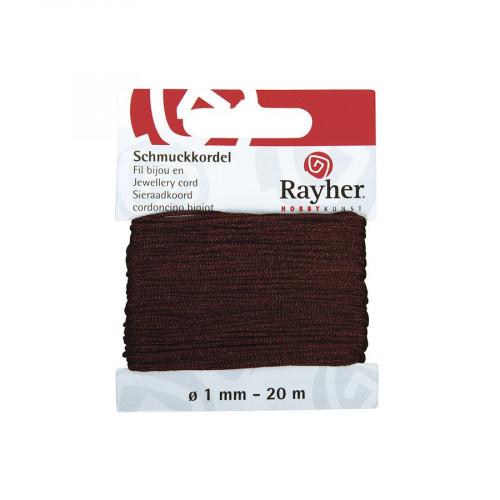 Cordon bijou - brun foncé - 1 mm x 20 m