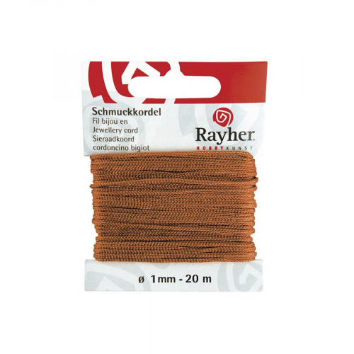 Cordon bijou - marron clair - 1 mm x 20 m