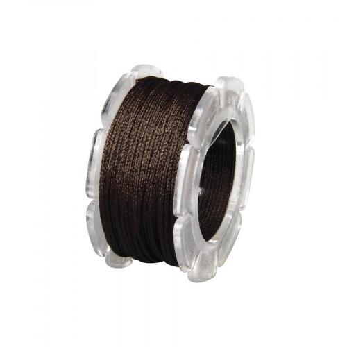 Cordon ciré armé nylon - brun mocca - 0,6 mm - 10 m