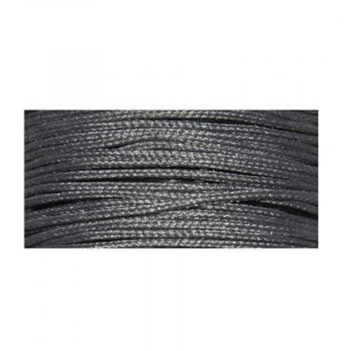 Cordon ciré armé nylon - gris foncé - 0,6 mm - 10 m