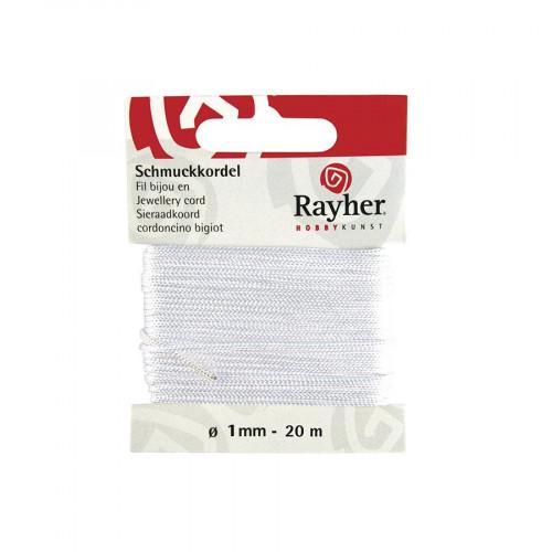 Cordon bijou - blanc - 1 mm x 20 m
