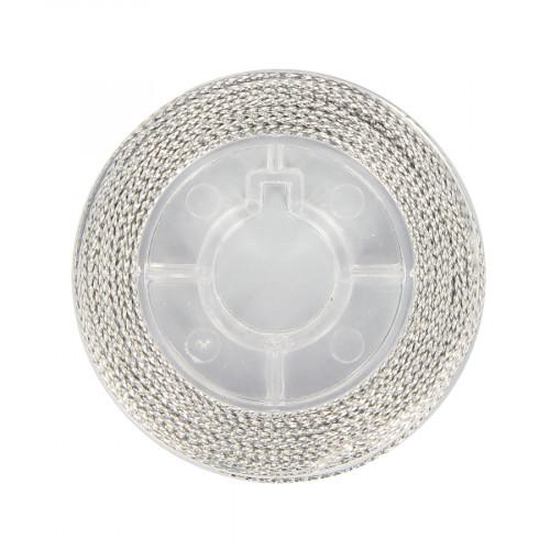 Cordonnet métallisé - Argent - 0,8 mm par 10 m