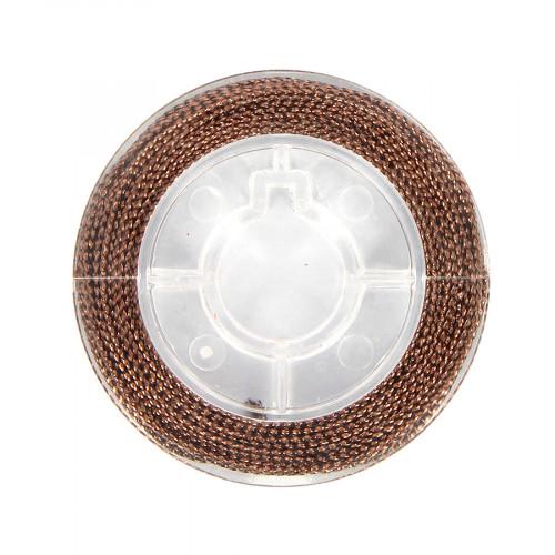 Cordonnet métallisé - Cuivre antique - 0,8 mm par 10 m