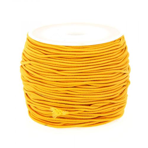 Fil élastique guipé - Orange - 1 mm par 28 m