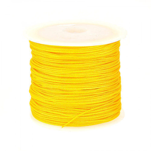 Fil de jade - Jaune or - 0,80 mm par 40 m