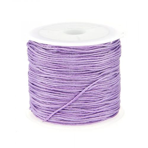 Fil de jade - Violet parme - 0,80 mm par 40 m