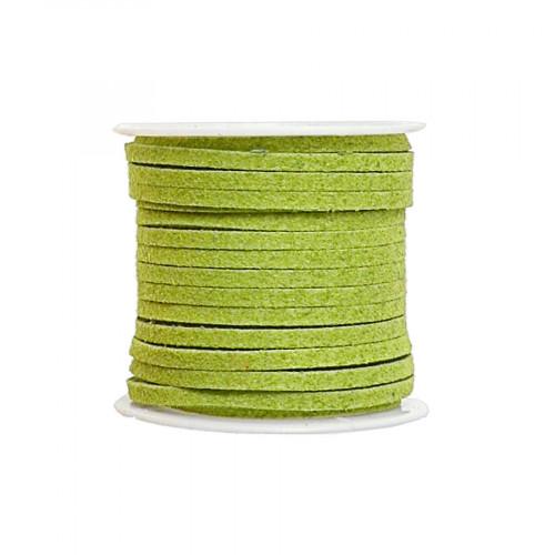 Cordon suédine synthétique - Vert anis - 2 mm par 5 m