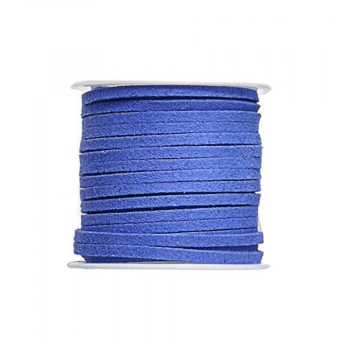 Cordon suédine synthétique - Bleu - 2 mm par 5 m