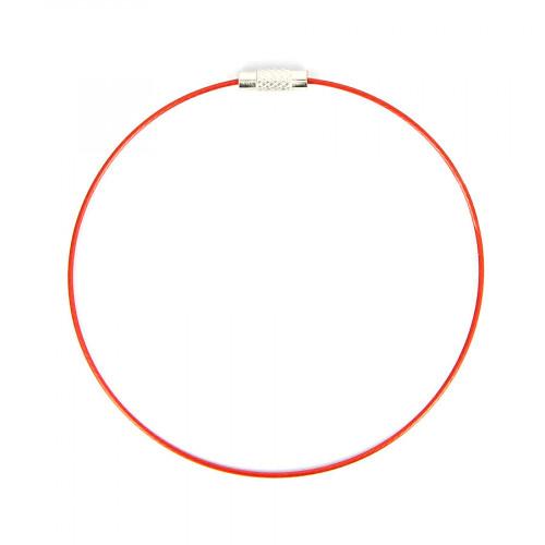 Bracelet fil câblé - Rouge - Ø 23 cm
