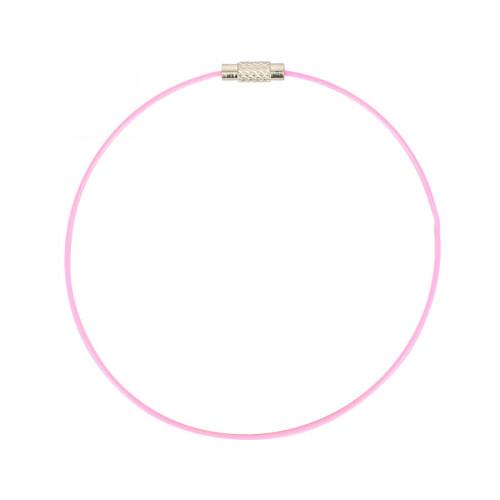 Bracelet fil câblé - Rose - Ø 23 cm