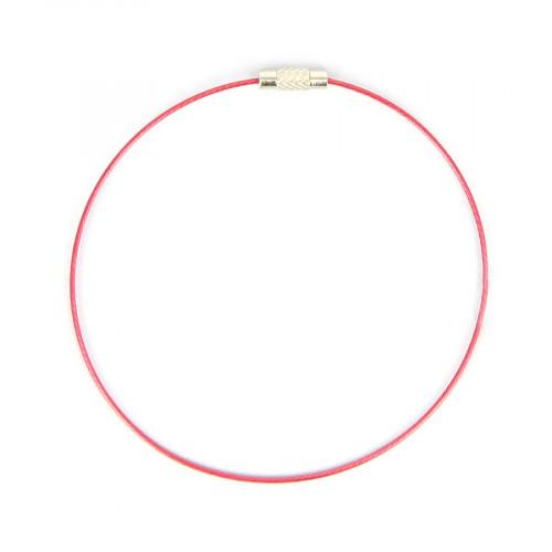 Bracelet fil câblé - Rose Fuchsia - Ø 23 cm