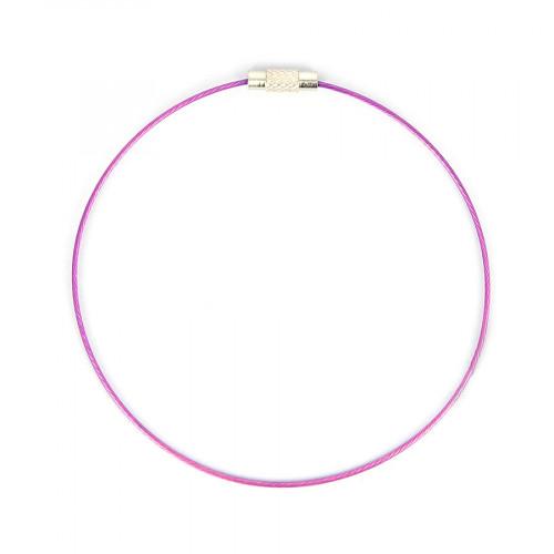 Bracelet fil câblé - Violet - Ø 23 cm