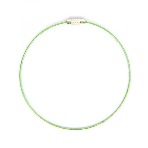 Bracelet fil câblé - Vert - Ø 23 cm