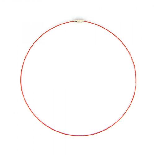 Collier fil câblé - Rouge - Ø 45 cm