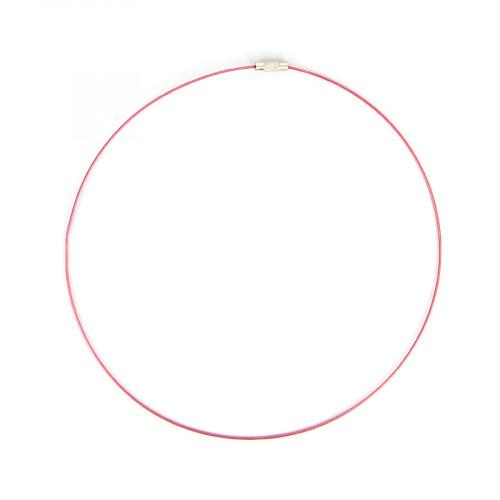Collier fil câblé - Rose fuchsia - Ø 45 cm