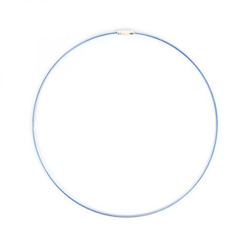 Collier fil câblé - Bleu - Ø 45 cm