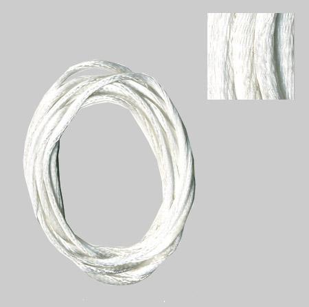 Cordon queue de rat Ø 2 mm - Blanc - 1 m