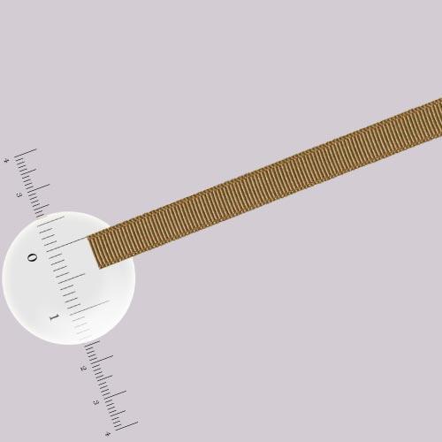 Ruban 0,5 cm - Marron glacé - L. 50 cm