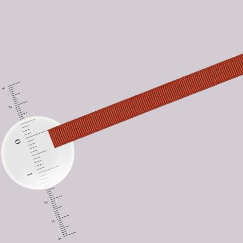 Ruban 0,5 cm - Brique - L. 50 cm