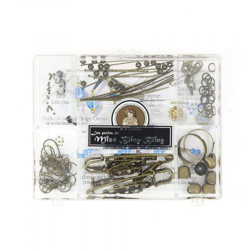 Boîte d'assortiment d'apprêts - Bronze - Taille aléatoire de 1 à 55 mm