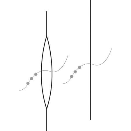 Aiguille spéciale pour enfiler des perles - 57 mm