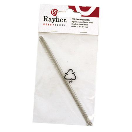 Aiguille spéciales pour enfiler des perles - 130 mm x 10 pièces