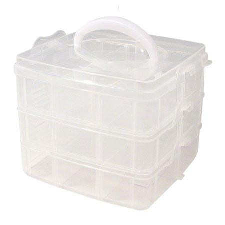 Boîte de rangement avec poignée - 15,5 x 15,5 x 12,9 cm environ