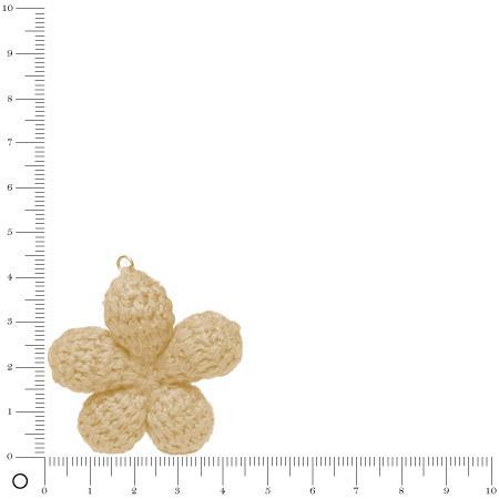 Pendentif au crochet Ø 45 mm - Fleur ivoire