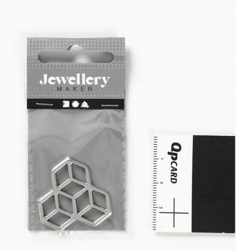 Pendentif Hexagones - 3 cm