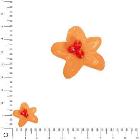 Bolero - Fleur en coquille avec perles facettées 22 mm - Pêche