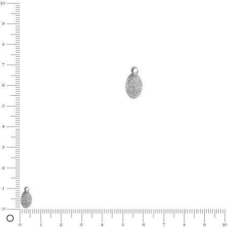 Breloque ovale L. 11,4 mm - Argenté
