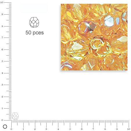 Facettes dépolies - Topaze - 6 mm x 50 pces