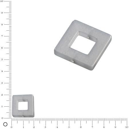 Carré Polaris - 20 x 20 mm - Gris argent