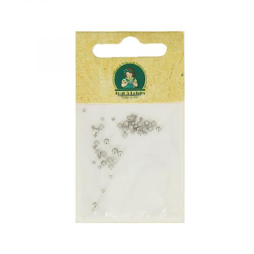 Assortiment de perles à écraser - Argent - Taille aléatoire Ø de 1 à 2 mm