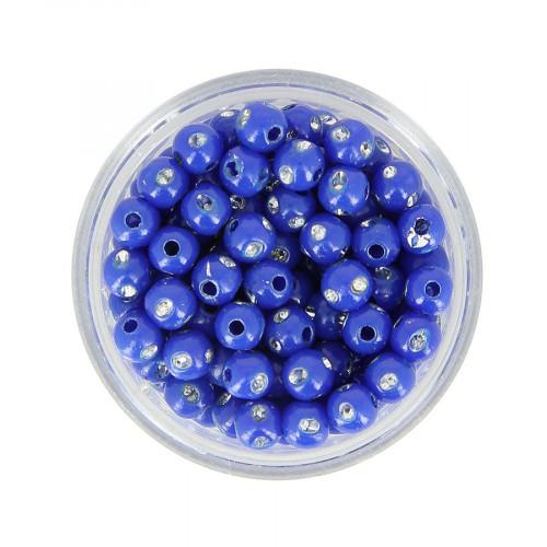 Boîte de perles à strass - Bleu - Ø 5 mm
