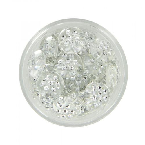 Boîte de perles à strass - Transparent - Ø 10 mm