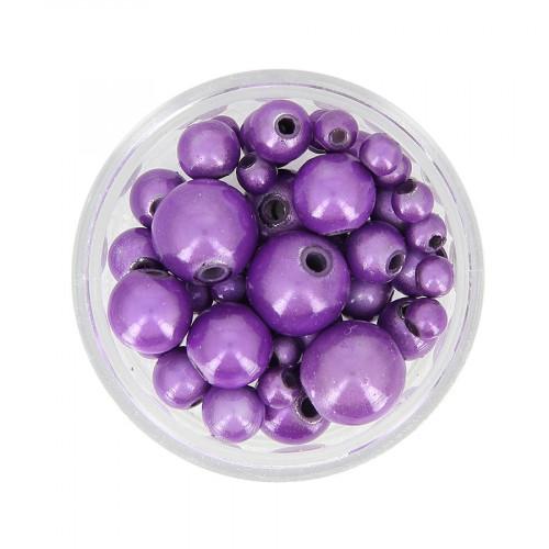 Mélange de perles Magic - Violet mauve - Taille aléatoire Ø de 4 à 10 mm