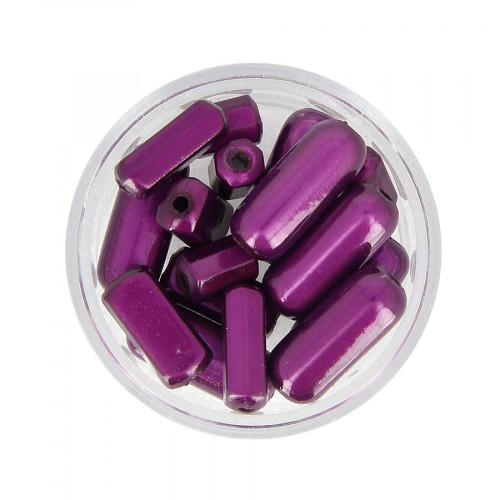 Mélange de perles Magic - Violet améthyste - Taille aléatoire de 9 à 17 mm