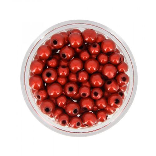Mélange de perles Magic - Rouge - Taille aléatoire Ø de 4 à 5 mm