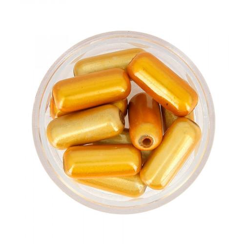 Boîte de perles Magic - Orange clair - 17 x 8 mm