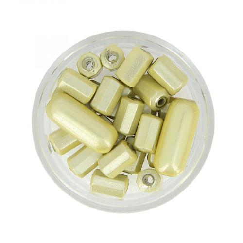 Mélange de perles Magic - Blanc ivoire - Taille aléatoire de 8 à 17 mm