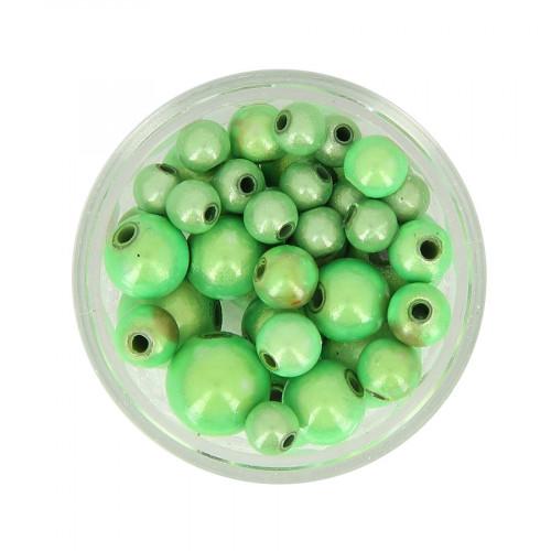 Mélange de perles Magic - Vert anis - Taille aléatoire Ø de 5 à 8 mm