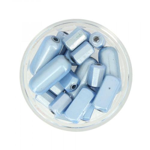 Mélange de perles Magic - Bleu maya - Taille aléatoire de 8 à 17 mm