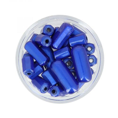 Boîte de perles Magic - Bleu klein - Taille aléatoire de 8 à 17 mm
