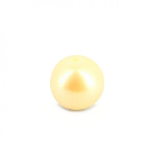 Perle ronde nacrée synthétique - Blanc - 10 mm