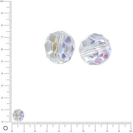 Facettes - Cristal de roche - 10 mm x 5 pces