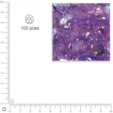Facettes dépolies - Lilas - 4 mm x 100 pces