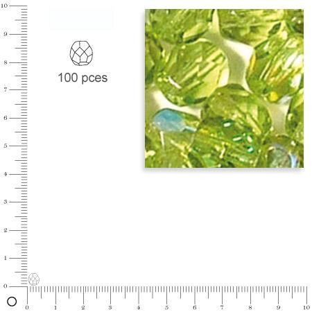 Facettes dépolies - Olive - 4 mm x 100 pces