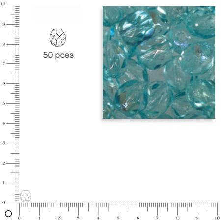 Facettes dépolies - Turquoise - 6 mm x 50 pces