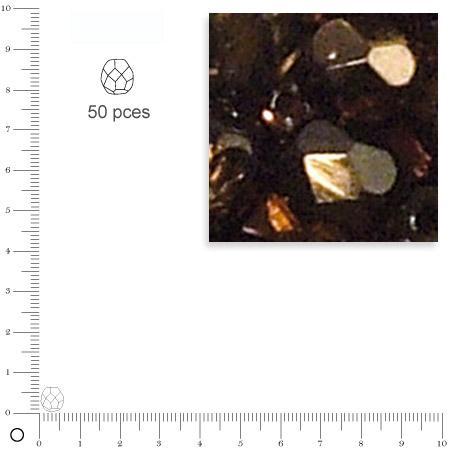 Facettes dépolies - Praliné - 6 mm x 50 pces
